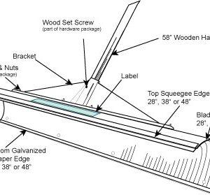 SnowPusherLite Parts Schematic